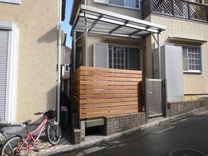 大阪府 羽曳野市 天然木 テラス工事のサムネイル画像